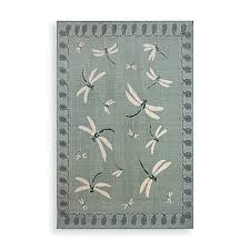 Dragonfly Outdoor Rug Trans Dragonfly Indoor Outdoor Rug Bed Bath Beyond
