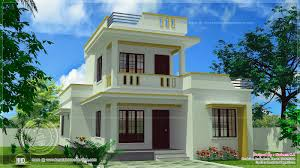 simple square house plans simple flat roof home design in 1305 sq feet kerala home design
