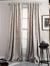 NWOP DKNY Beige UPTOWN LOFT Window Curtain Panels 50x84 PAIR Room