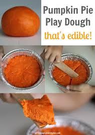 edible pumpkin pie play dough play dough dough recipe and