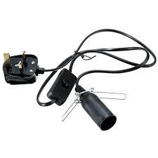 electric cord with light bulb himalayan salt l black white e14 light bulb electric power cord