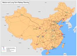 Maps Of China by File Current And Future Map Of China U0027s Railways Jpg Wikimedia