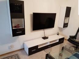 Wohnzimmer M El Boss Wohnwand Weiss Schwarz Home Design Und Möbel Interieur Inspiration