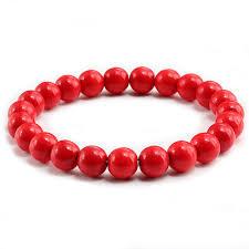 red beads bracelet images New trendy red beaded bracelets for women natural stone strand jpg