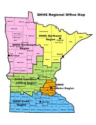Map Of Minnesota With Cities Contact Us Minnesota Department Of Human Services