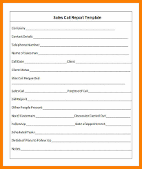 sales call report template 12 sales call report sle retail resumes