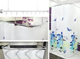 U Shaped Shower Curtain Rod Modern Shower Curtain Rod U2013 Limette Co