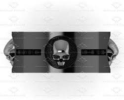 skull wedding bands sapphire studios 0 40ct black diamond black gold skull wedding