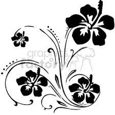 royalty free black hibiscus floral swirl designs 373759 vector