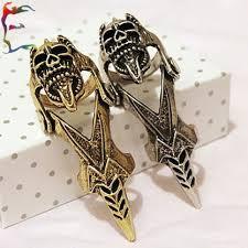 skull finger rings images Skull joint ring bronze silver alloy metal ring novelty punk crow jpg