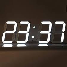 3d diy large modern design digital led wall clock big creative