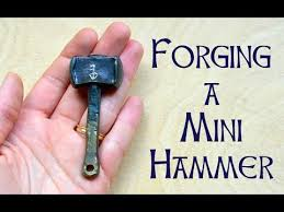 how to make miniature hammers forging thor s hammer pendant youtube