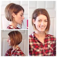 diy cutting a stacked haircut long lob stacked asymmetrical bob maybe matilda long lob