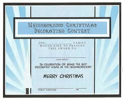 Best Decorated Homes For Christmas Best Decorated House For Christmas Free Printable Certificate