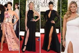 golden globes 2013 celebrity leg bombing trend thigh slit