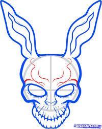 how to draw frank the rabbit donnie darko step by step movies