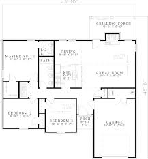 floor plans ranch style homes weatherby ranch style home plan 055d 0564 house plans and more