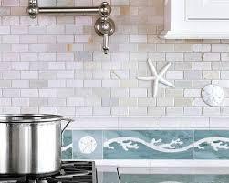 decorative tile inserts kitchen backsplash coastal kitchen backsplash ideas with tiles from murals to