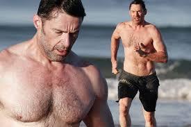 Hugh Jackman Hugh Jackman Is Looking Fit As He Jogs Along A In Sydney In
