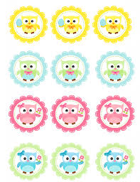 cupcake toppers free owl cupcake toppers printable rings things