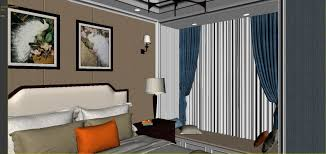 panoramic american style family bedroom space 3d model max