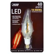 feit 40 watt vintage chandelier candelabra base led light bulb
