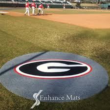custom logo mats for baseball and softball by enhance mats