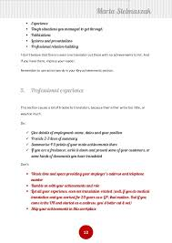 Examples Of Achievements On A Resume by How To Write A Translator U0027s Cv