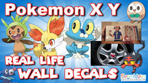 pokemon x y in real life peel stick wall decals starter and pokemon x y in real life peel stick wall decals starter and mega evolution nintendo youtube