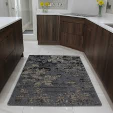 Area Rugs Uk by Brown Rubber Backed Modern Kitchen Rug Flat Weave Easy Clean
