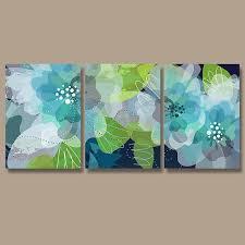 blue and green home decor wall art design ideas relaxing amazing green wall art theme cheap