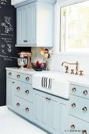 kitchen cabinet paint color with gorgeous blue for creative juice