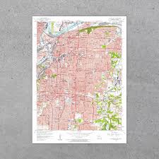 Map Of Kansas City Mo Kansas City Mo Ks 1957 Usgs Map