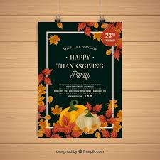 thanksgiving day posters in vintage style vector free