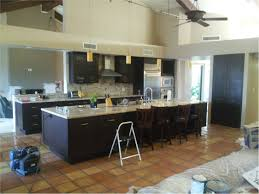 kitchen black granite floor tile space between counter and