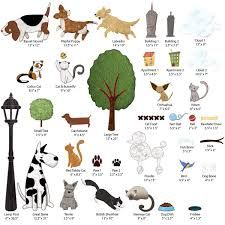 Bedroom Wall Stickers John Lewis Dog And Cat Wall Stickers City Park Theme Wall Decals