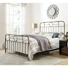 walker edison furniture company bronze queen bed frame hdqmpbr