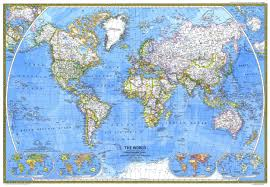 Classic Maps National Geographic World Map Black