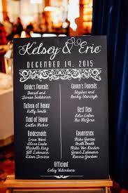 Wedding Program Board Kelsey U0026 Eric Chalkbaord Wedding Program Mounted On Foam Board