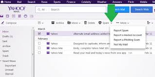 yahoo email junk mail how to mark and delete spam in yahoo mail