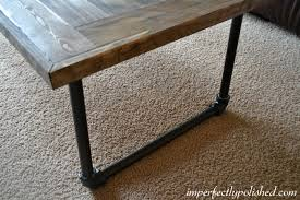 Wooden Coffee Table Legs Simple Diy Pipe And Wood Coffee Table