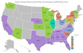 Nuclear Fallout Map by Number Of Active Nuclear Power Stations By Us State With