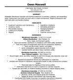 skills for warehouse packer warehouse production resume resume
