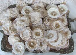 burlap flowers burlap fabric flowers wedding decorations for centerpieces table decor