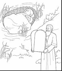 wonderful ten commandments coloring pages with baby moses in ten