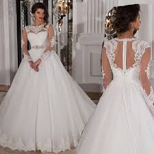 see through long sleeve lace wedding dresses spanish gown