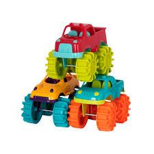 mini monster jam truck toys amazon com battat mini monster trucks toys u0026 games