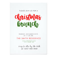 christmas lunch invitation brunch christmas invitations announcements zazzle co uk