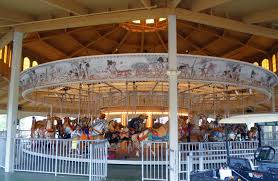Six Flags Rides Ga Brass Ring Carousel Co Replaces The Center Gear On The Historic