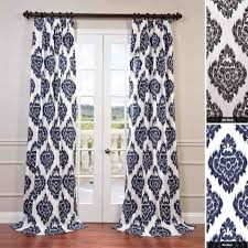Purple Ikat Curtains In The Living